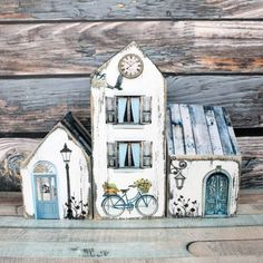 Large Photos, Little Houses, Wood Crafts, Birthday Cards, House Design, Outdoor Decor, Painting, Home Decor, Beach