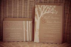 Birch Tree Wedding Invitation by AllButtonedUpPaper on Etsy