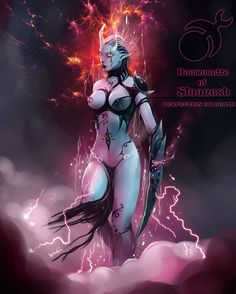 Slaanesh Goddess Heresy,Wh Other,Warhammer Warhammer 40k Art, Warhammer Fantasy, Fantasy Rpg, Dark Fantasy, Les Reptiles, Cyberpunk Art, Science Fiction Art, Sexy Cartoons, Halloween Horror