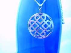 Silver Celtic Knot Pendant Necklace by TheGoodLifebyKatie on Etsy, $14.00