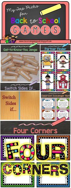 Classroom Freebies: Back to School Games {3 FREEBIES!}