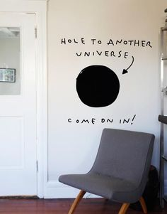 Warning: Hole may not be active. Enter this Blik wall decal at your own risk.