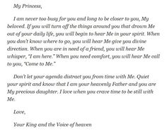 """My princess...""""be still and know that I am God."""""""