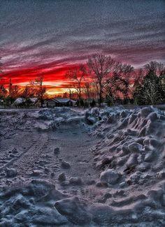 Sunset In Columbia, Missouri