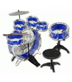 Kids Boy Girl Drum Set Musical Instrument Toy Playset Blue in Drums & Percussion. Kids Drum Set, Drums For Kids, Music For Kids, Toys For Boys, Kids Boys, Drum Lessons, Fun World, Baby Music, Drum Kits