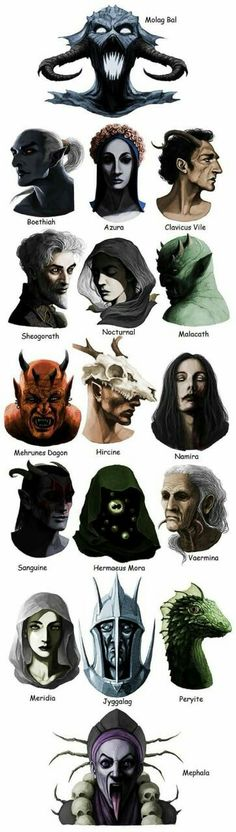I've only played Skyrim, so I have to admit I was surprised to see there are more Daedra in The Elder Scrolls games than the ones I met. Elder Scrolls V Skyrim, The Elder Scrolls, Elder Scrolls Games, Elder Scrolls Online, Elder Scrolls Oblivion, Skyrim Lore, Tes Skyrim, Dragonborn Skyrim, Dark Fantasy Art