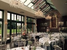 The beautiful Offley Place Hotel is an elegant country house wedding venue in Hitchin, Hertfordshire. The dining room is light and airy, and just the right acoustics for those wedding speeches!