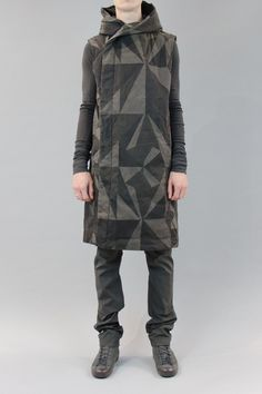 hooded sleeveless coat - DRKSHDW by RICK OWENS - Layers London