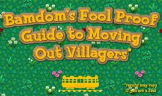 Guide to moving out villagers  The Bell Tree Forums