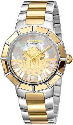 0337fcdbf6 Roberto Cavalli Watches Women s Stainless Steel Women s Diamond  amp   Mother of Pearl Dial Watch