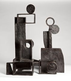 Dorothy Dehner  (American, 1901-1994),  'Arcanorum,'  1966. Bronze,  22 1/4 by 18 1/4 by 13 1/4 inches.