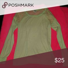 Victorias secret pink easter green lace top Size xs very pretty light green color. Lace is in great condition. Worn maybe once. Can add more pics upon request. :) check out my other items as well PINK Victoria's Secret Tops