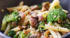 Miotraella: Macarrones con brócoli y setas