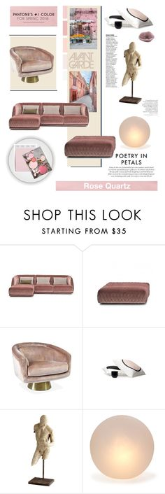 """Pantone 2016 Colors: Rose Quartz (minus Serenity)"" by fl4u ❤ liked on Polyvore featuring interior, interiors, interior design, home, home decor, interior decorating, MOROSO, Jonathan Adler, Cyan Design and Mitchell Gold + Bob Williams"