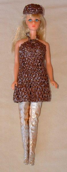 Cassette Tape Barbie Doll Halter Dress