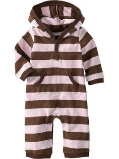 chocolate & pink striped baby girl onesie