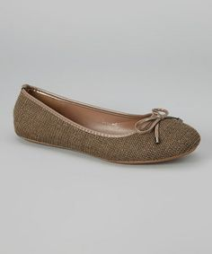 Love this Taupe Bow Ballet Flat on #zulily! #zulilyfinds