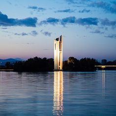 nstagrammer debster33_ said she loves the early morning light by Lake Burley Griffin and after seeing her gorgeous image of the National Carillon we can see why! #visitcanberra #seeaustralia