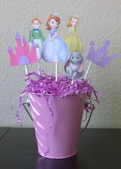 Princess Sofia Centerpiece Sofia The First by OohLaLaPartyDeco