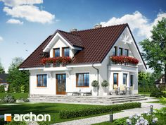 Dom w rododendronach 6 (W) Small House Design, Home Design Plans, Home Fashion, Minimalist Home, Beautiful Homes, House Plans, Home And Garden, Farmhouse, Exterior