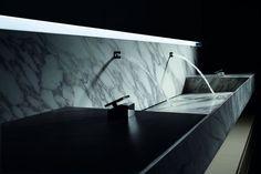 cuisine en marbre et photo de lavabo et credence en pierre
