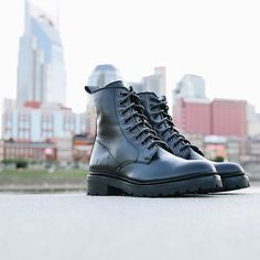 Julie Combat Boots | The Frye Company Frye Boots, Combat Boots, The Frye Company, Professional Wardrobe, Icon Collection, Goodyear Welt, Italian Leather, Heels, Accessories