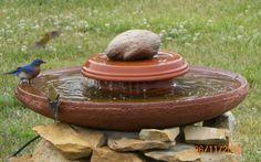 DIY fountain birdbath