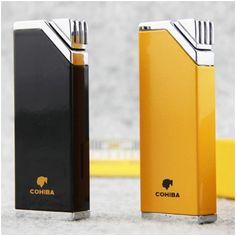 Bật lửa hút Cigar Cohiba chính hãng loại 1 tia lửa có thiết bị đục Cigar - Mã SP: BLH026