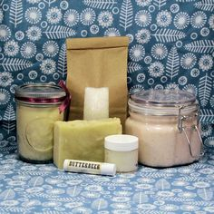 Large Bath and Body Product Gift Set  Salt by CherryPitCrafts