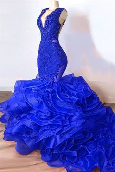 Newarrivaldress custom made this Royal Blue Mermaid Junior Prom Dresses Cheap Gold Mermaid Prom Dresses, Blue Mermaid Prom Dress, Mermaid Evening Gown, Royal Blue Prom Dresses, Prom Girl Dresses, Junior Prom Dresses, Prom Outfits, Prom Dresses Long With Sleeves, Formal Dresses For Women