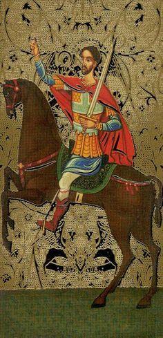 Knight of Swords - Golden Tarot of the Tsar by Atanas Alexandrov Atanassov