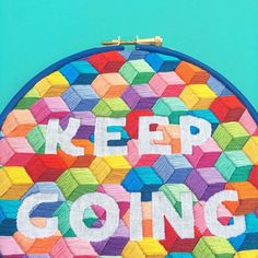 Keep going  Im so excited to have got my place in the @indie_roller Make It Happen membership group  hoping it will help me focus my time and energy on building up my indie business! #indierollercoaster #indierollerkeepgoing #bordado #modernembroidery #handembroidery #hellohoorayblog #geometricpattern #negativespaceembroidery