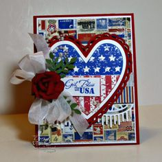 Created with Our Daily Bread Designs' Heart and Soul Stamp set, Ornate Hearts Die and Beautiful Borders Die