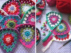 Crochet FLAGS with tutorial. By Handwerkjuffie.