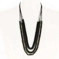 Bijou fantaisie indien - Collier de perles noires et dorées: ShalinCraft: Amazon.fr: Bijoux