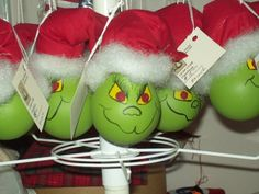 grinch light bulb ornament