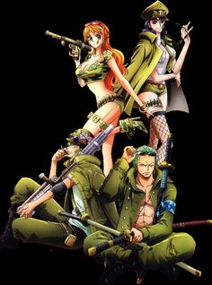 Nami. Robin. Sanji. Zoro. ^^ | taken from tumblr