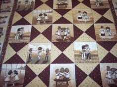 Great simple idea for quilt blocks memory quilt