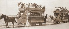 Horse drawn trams in Australia of yesteryears.A♥W