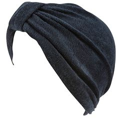 Soft Terry Cloth Turban Head Cover with Reversible Knot or Button Front (Available in 10 colors)
