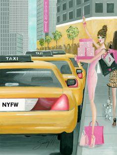 Celebrating NYFW! Illustration by illustrator SANDY M