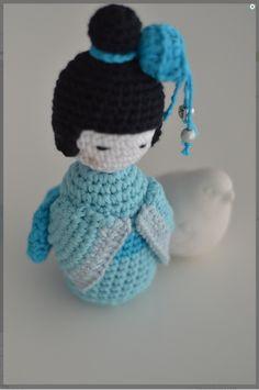 Crochet - Japanese Dolls ! on Pinterest Kokeshi Dolls ...