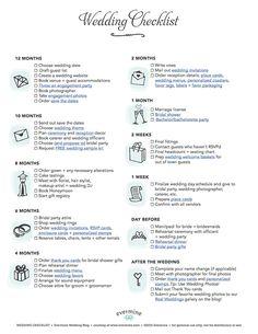 Download  Wedding Day Checklist Printable  Wedding Plans