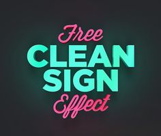 Free Clean Sign Text Effect Freebies Text Effect PSD Graphic Design Free Resource Template 3D Typography Sign