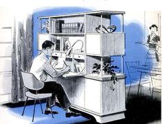 Writing Desk Room Divider