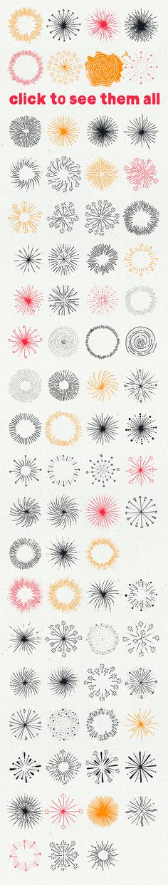 Fireworks II - HandDrawn Explosions by Vítek Prchal on Creative Market