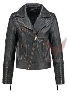 New Leather Biker Jacket Women Genuine Lambskin Zipper Motorcycle Slim GB#54