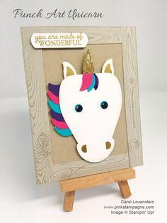 Curvy Keepsake Punch Art Unicorn