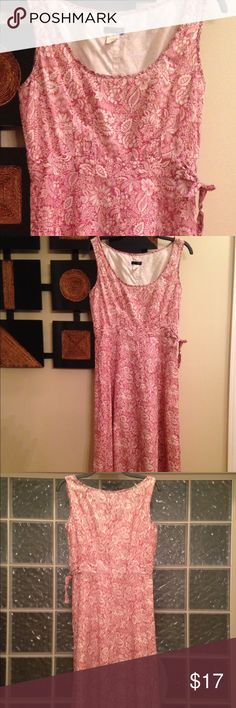 Dress Cotton linen dress. Perfect for the summer...fully lined comes under knees J. Crew Dresses Midi