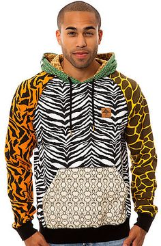 The Savage Safari Pullover Hoody in Multi by LRG